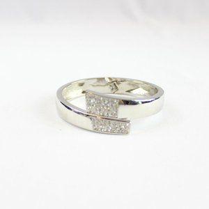 5/$25 Lia Sophia Silver Crystal Bangle Bracelet